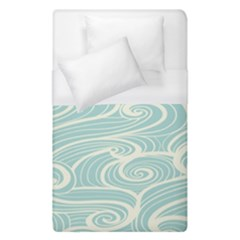 Blue Waves Duvet Cover (single Size) by Alisyart