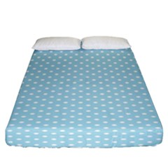 Circle Blue White Fitted Sheet (california King Size) by Alisyart