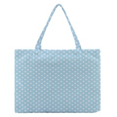 Circle Blue White Medium Zipper Tote Bag by Alisyart
