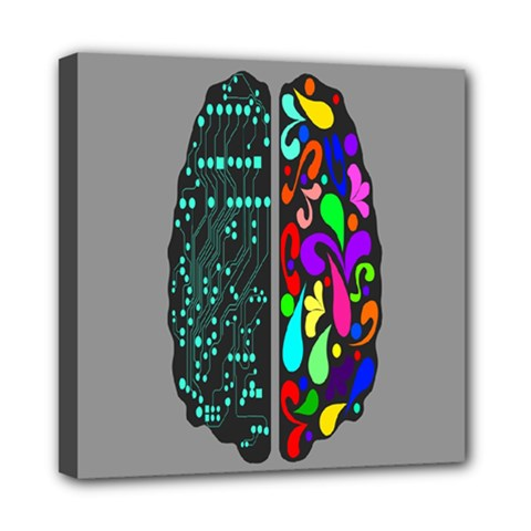 Emotional Rational Brain Mini Canvas 8  X 8  by Alisyart