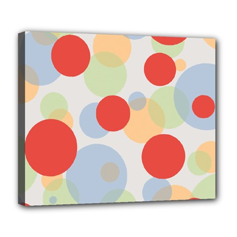 Contrast Analogous Colour Circle Red Green Orange Deluxe Canvas 24  X 20   by Alisyart