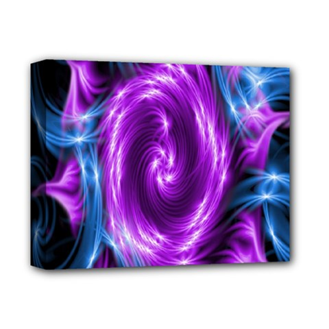 Colors Light Blue Purple Hole Space Galaxy Deluxe Canvas 14  X 11  by Alisyart