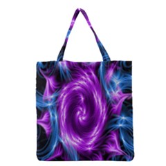 Colors Light Blue Purple Hole Space Galaxy Grocery Tote Bag by Alisyart