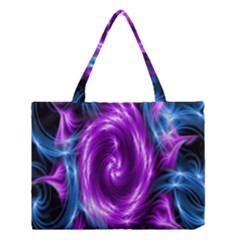 Colors Light Blue Purple Hole Space Galaxy Medium Tote Bag by Alisyart