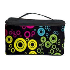 Circle Ring Color Purple Pink Yellow Blue Cosmetic Storage Case by Alisyart