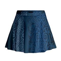 Fabric Blue Batik Mini Flare Skirt by Alisyart