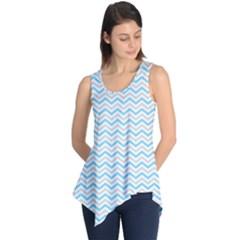 Free Plushie Wave Chevron Blue Grey Gray Sleeveless Tunic by Alisyart