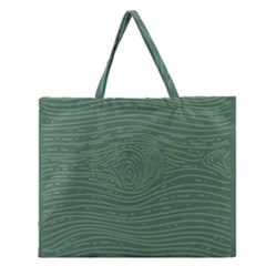 Illustration Green Grains Line Zipper Large Tote Bag by Alisyart