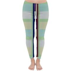 Maximum Color Rainbow Brown Blue Purple Grey Plaid Flag Classic Winter Leggings by Alisyart