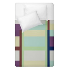 Maximum Color Rainbow Brown Blue Purple Grey Plaid Flag Duvet Cover Double Side (single Size) by Alisyart