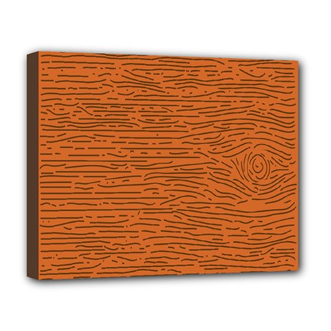 Illustration Orange Grains Line Deluxe Canvas 20  X 16   by Alisyart