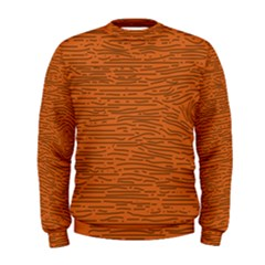 Illustration Orange Grains Line Men s Sweatshirt