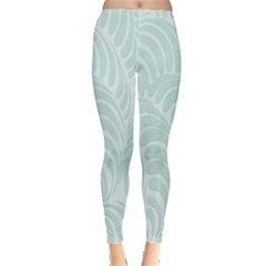 Leaf Blue Leggings  by Alisyart