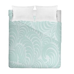 Leaf Blue Duvet Cover Double Side (full/ Double Size) by Alisyart