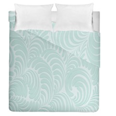Leaf Blue Duvet Cover Double Side (queen Size) by Alisyart