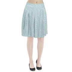 Leaf Blue Pleated Skirt by Alisyart