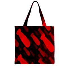 Missile Rockets Red Zipper Grocery Tote Bag by Alisyart