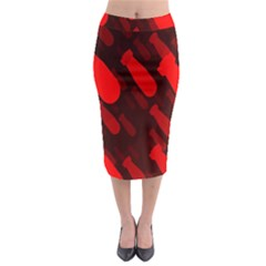 Missile Rockets Red Midi Pencil Skirt by Alisyart