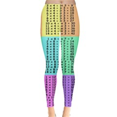 Multiplication Printable Table Color Rainbow Leggings  by Alisyart