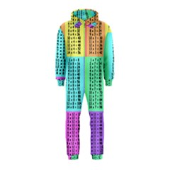 Multiplication Printable Table Color Rainbow Hooded Jumpsuit (kids) by Alisyart