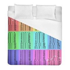Multiplication Printable Table Color Rainbow Duvet Cover (full/ Double Size) by Alisyart