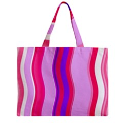Pink Wave Purple Line Light Mini Tote Bag by Alisyart