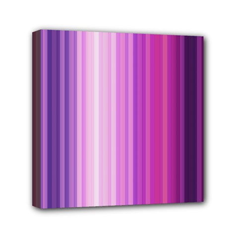 Pink Vertical Color Rainbow Purple Red Pink Line Mini Canvas 6  X 6  by Alisyart