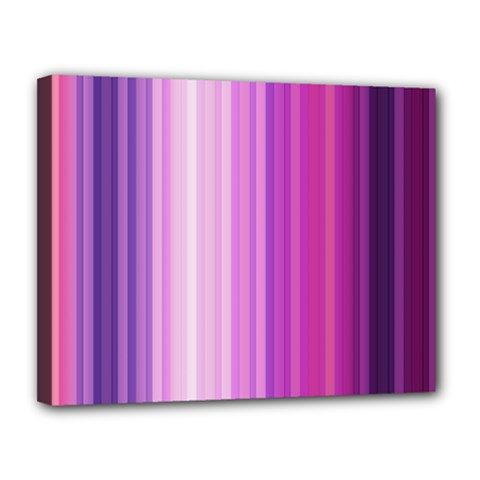 Pink Vertical Color Rainbow Purple Red Pink Line Canvas 14  X 11  by Alisyart