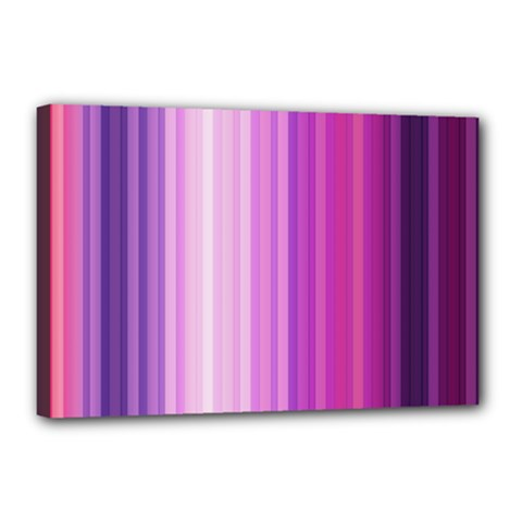 Pink Vertical Color Rainbow Purple Red Pink Line Canvas 18  X 12  by Alisyart