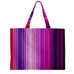 Pink Vertical Color Rainbow Purple Red Pink Line Zipper Mini Tote Bag by Alisyart