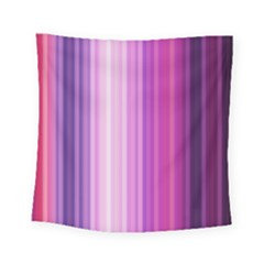 Pink Vertical Color Rainbow Purple Red Pink Line Square Tapestry (small) by Alisyart