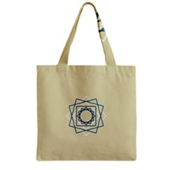 Shape Experimen Geometric Star Plaid Sign Grocery Tote Bag by Alisyart