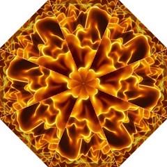 Sea Fire Orange Yellow Gold Wave Waves Hook Handle Umbrellas (medium) by Alisyart