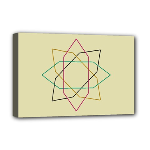 Shape Experimen Geometric Star Sign Deluxe Canvas 18  X 12   by Alisyart