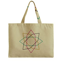 Shape Experimen Geometric Star Sign Zipper Mini Tote Bag by Alisyart