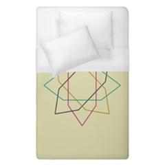 Shape Experimen Geometric Star Sign Duvet Cover (single Size) by Alisyart