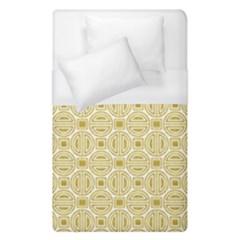 Gold Geometric Plaid Circle Duvet Cover (single Size) by Alisyart