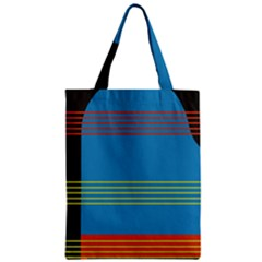 Sketches Tone Red Yellow Blue Black Musical Scale Zipper Classic Tote Bag by Alisyart