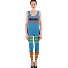 Sketches Tone Red Yellow Blue Black Musical Scale Onepiece Catsuit by Alisyart