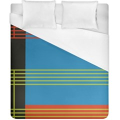 Sketches Tone Red Yellow Blue Black Musical Scale Duvet Cover (california King Size) by Alisyart