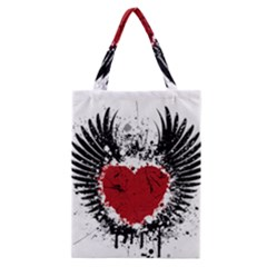 Wings Of Heart Illustration Classic Tote Bag by TastefulDesigns