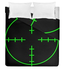 Sniper Focus Duvet Cover Double Side (queen Size) by Alisyart