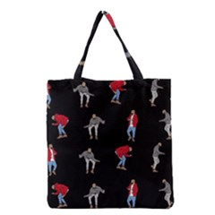 Drake Hotline Bling Black Background Grocery Tote Bag by Onesevenart
