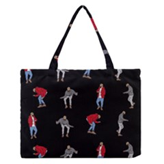 Drake Hotline Bling Black Background Medium Zipper Tote Bag by Onesevenart