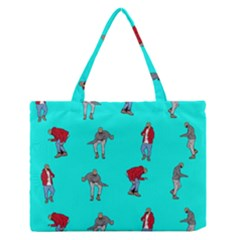 Hotline Bling Blue Background Medium Zipper Tote Bag by Onesevenart