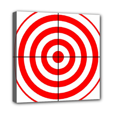 Sniper Focus Target Round Red Mini Canvas 8  X 8  by Alisyart