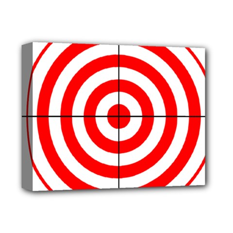 Sniper Focus Target Round Red Deluxe Canvas 14  X 11  by Alisyart
