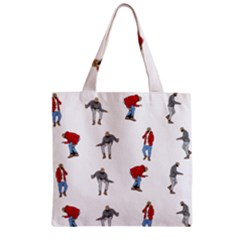 Hotline Bling Zipper Grocery Tote Bag by Onesevenart