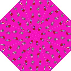 Hotline Bling Pink Background Folding Umbrellas by Onesevenart