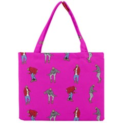 Hotline Bling Pink Background Mini Tote Bag by Onesevenart
